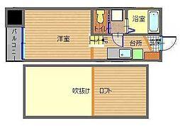 長崎県長崎市平和町の賃貸アパートの間取り
