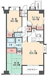 アミークス武蔵新城[3階]の間取り