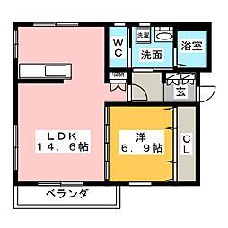 グッドフレンズマンション[3階]の間取り