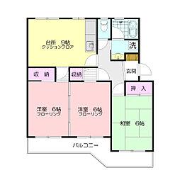 ウィンローレルマンション[3階]の間取り