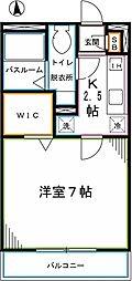 JR中央本線 国分寺駅 徒歩7分の賃貸アパート 1階1Kの間取り