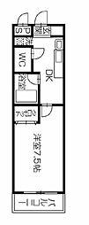 徳島県徳島市応神町古川字戎子野の賃貸アパートの間取り