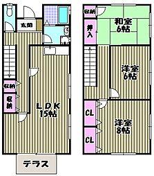 [テラスハウス] 大阪府堺市西区平岡町 の賃貸【/】の間取り