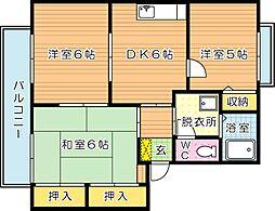グリーンディアス B棟[2階]の間取り