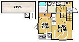 アイディール竹下[2階]の間取り