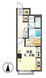 レオパレスサン秋竹[1階]の間取り
