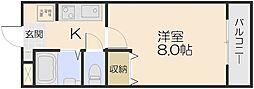 ピア・ドリームII番館[202号室]の間取り