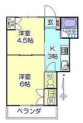 第4植木産業ビル[103号室]の間取り