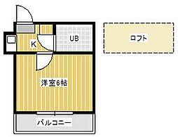 ジュネパレス新松戸第36[2階]の間取り