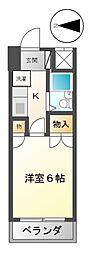 愛知県名古屋市中川区松重町の賃貸マンションの間取り