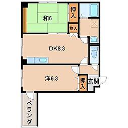 シャンティイ田中町[3階]の間取り
