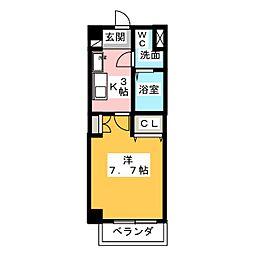 ソレイルコート桜本町[5階]の間取り
