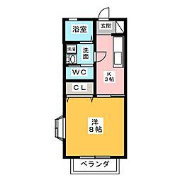 ウィル二番館[1階]の間取り