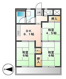 当知東住宅2号棟[5階]の間取り