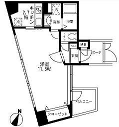 メイクスデザイン渋谷神泉[8階]の間取り