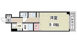 兵庫県神戸市灘区船寺通5の賃貸マンションの間取り