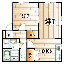 アルバK[1階]の間取り