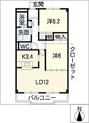 ローズ・ガーデンII[2階]の間取り