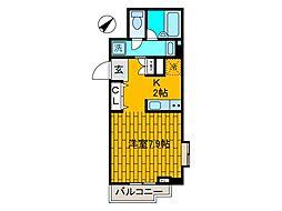 ベルヴィル新ゆり[3階]の間取り