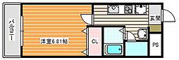 ルミエール御崎[6階]の間取り