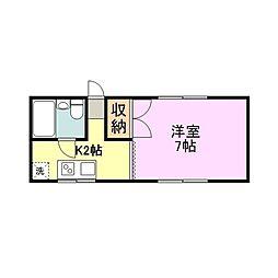 アーバン美樹[2階]の間取り