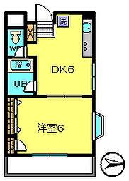 サンウッド5[4階]の間取り