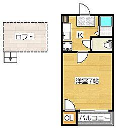コスモパーク[1階]の間取り