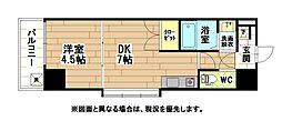福岡県北九州市小倉北区高坊2丁目の賃貸マンションの間取り