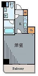 神奈川県川崎市中原区上新城2丁目の賃貸マンションの間取り