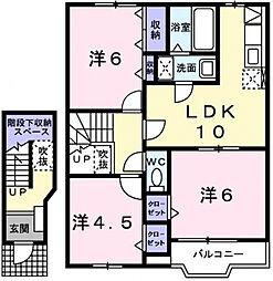 アースブラウンK・TIV[2階]の間取り