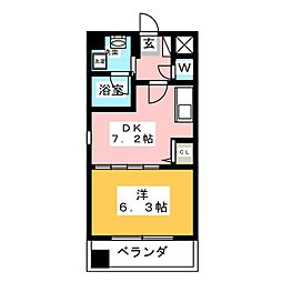 octava dios[6階]の間取り