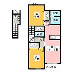 i−Fiore A・B[2階]の間取り
