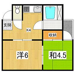 四方マンション[2階]の間取り