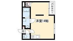 愛知県日進市浅田町上納の賃貸マンションの間取り