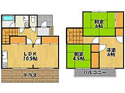 [テラスハウス] 兵庫県神戸市西区池上4丁目 の賃貸【/】の間取り