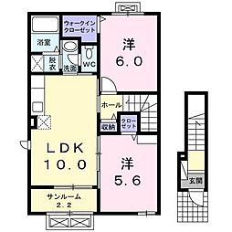 MASUKO DX[2階]の間取り