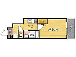 JR香椎線 土井駅 徒歩1分の賃貸アパート 1階1Kの間取り