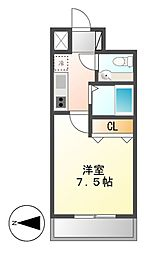 KWレジデンス名駅南[9階]の間取り