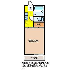 ブルーアイ元宿[15号室]の間取り
