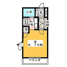 ハイツ久後崎[4階]の間取り