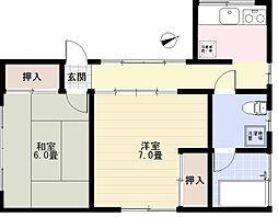 [テラスハウス] 神奈川県横浜市金沢区六浦南1丁目 の賃貸【/】の間取り