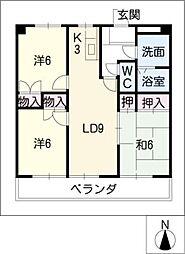 サンピラーSUZUKI[2階]の間取り
