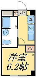 京成押上線 四ツ木駅 徒歩10分の賃貸マンション 1階1Kの間取り