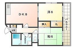 富士梶町マンション[4階]の間取り