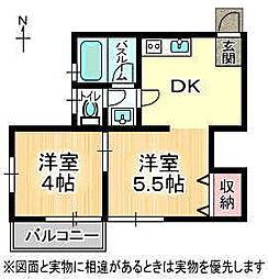 1373倶楽部[1階]の間取り