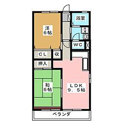 ラフォーレA[2階]の間取り