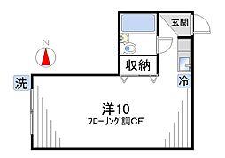 ハイツ秋山[101号室]の間取り