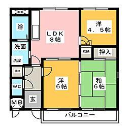 ギャラリーコート21[1階]の間取り