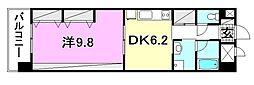 KWレジデンス竹原[703 号室号室]の間取り