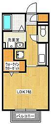 ハートフル[1階]の間取り